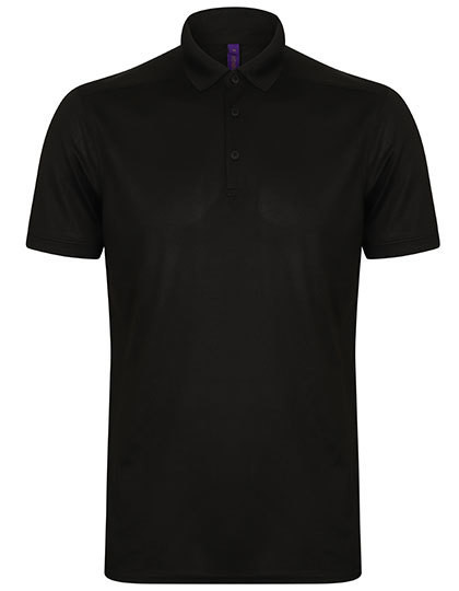 W460 Henbury Mens Stretch Polo Shirt + Wick Finish